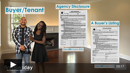 The Agency Law Disclosure Part III: Agency Rules for a Seller's and Buyer's Listing