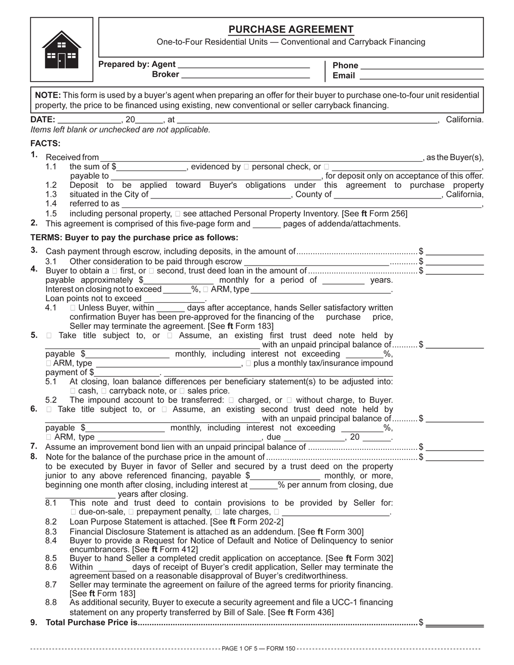 First Tuesday Journal  Property Purchase Agreement Template