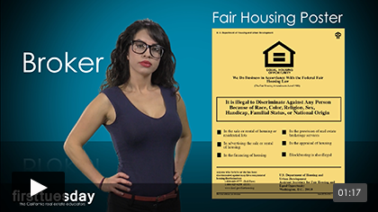 A Broker's Use of the Fair Housing Poster