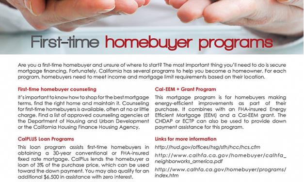 FARM: First-time homebuyer programs