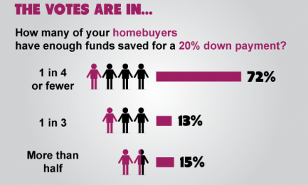 The votes are in: 20% down payments still a rare feat