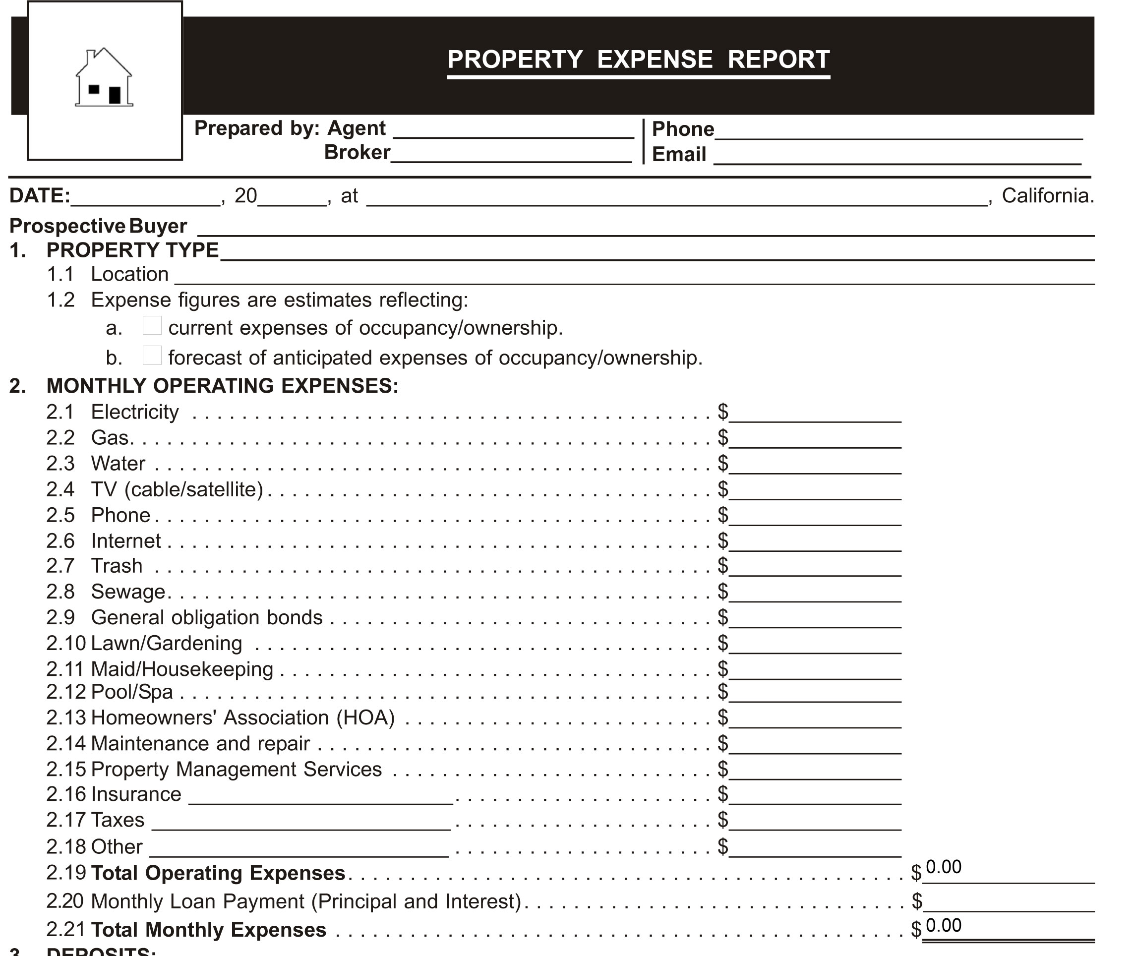 August 2012 Form of the Month – Personal Monthly Expense Report Template