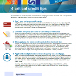 4 critical credit tips