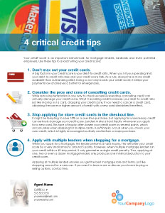 FARM: 4 critical credit tips