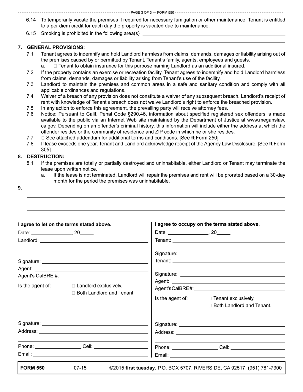 The Residential Lease Agreement Setting The Terms Of A Fixed Term