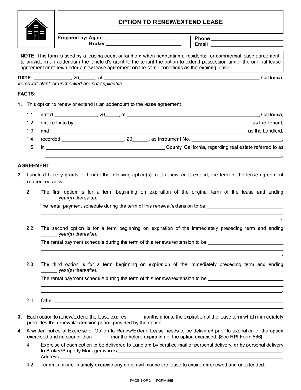 Commercial Lease Renewal Form Kordurorddiner