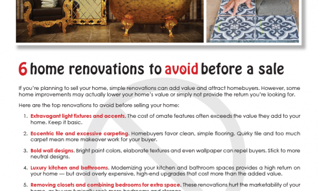 FARM: 6 home renovations to avoid before a sale