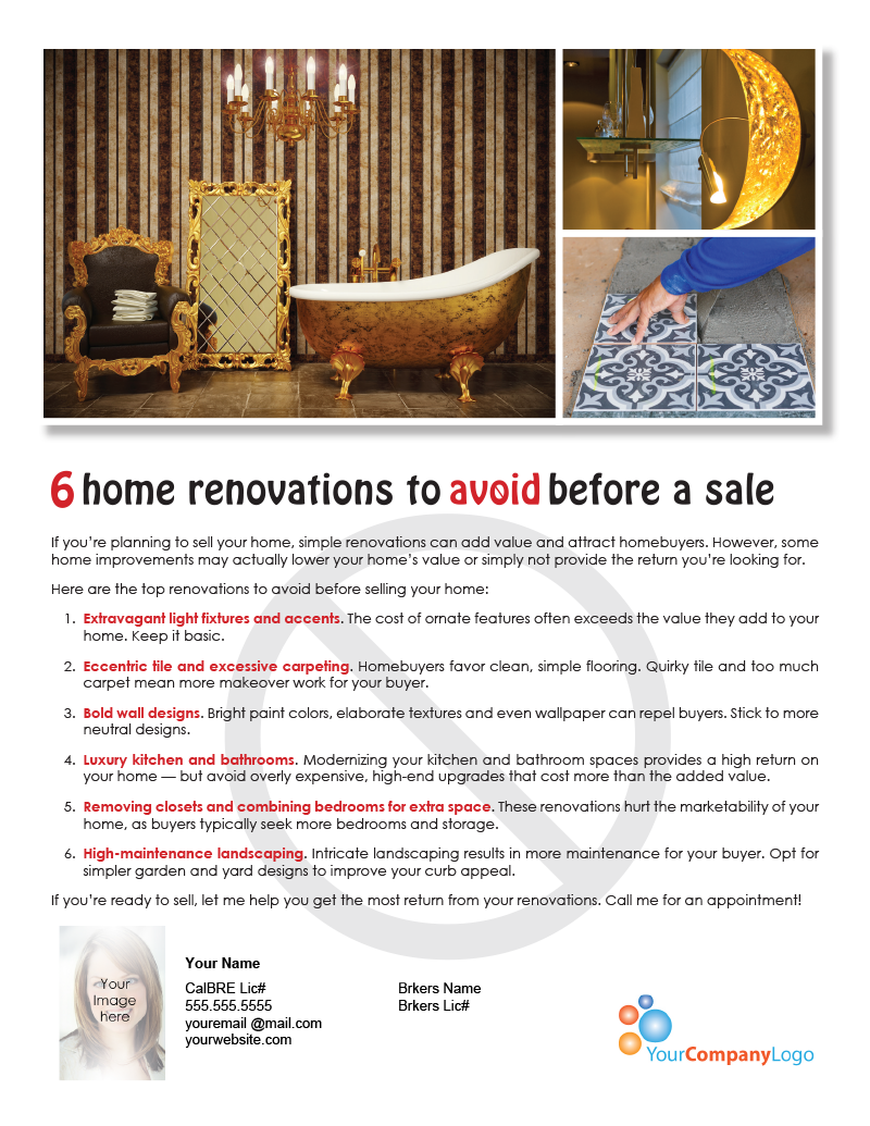 6-home-renovations-to-avoid-before-a-sale