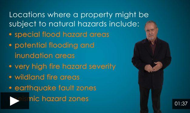 A Unified Natural Hazard Disclosure for All Sales