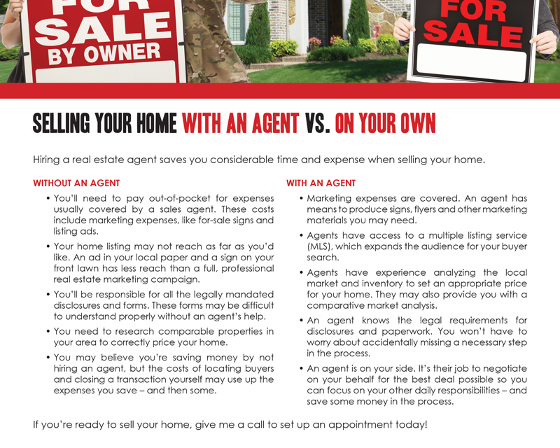 FARM: Selling your home with an agent vs. on your own