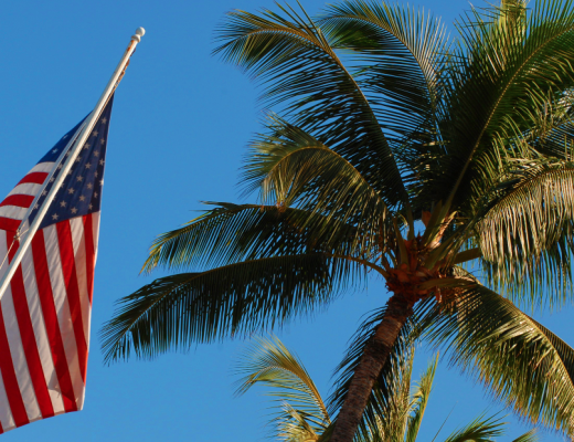American flag - California VA mortgage