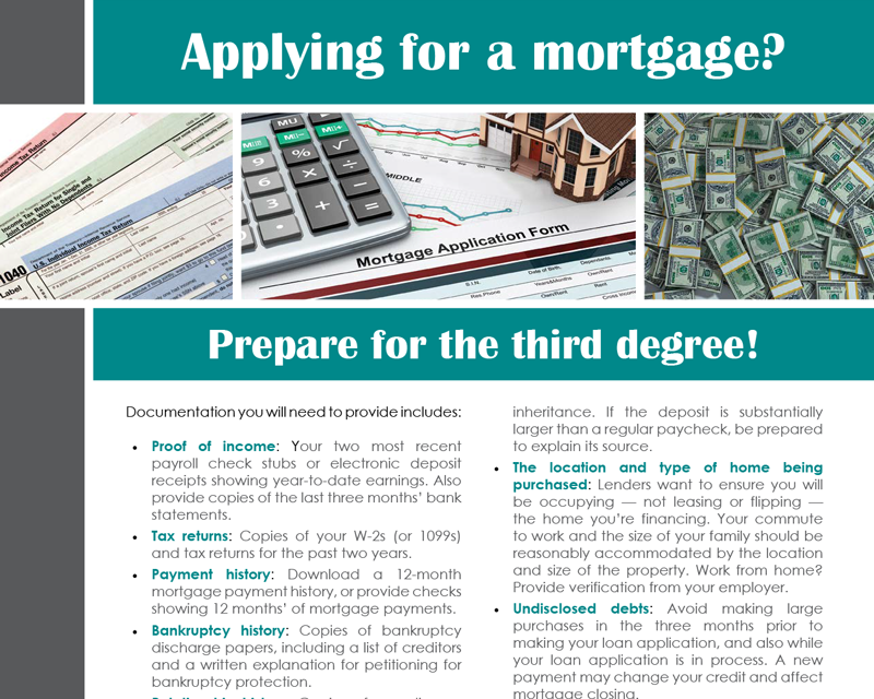 FARM: Applying for a mortgage?
