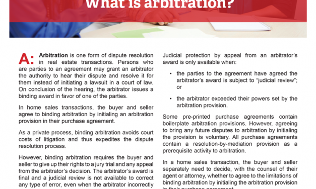 Client Q&A: What is arbitration?