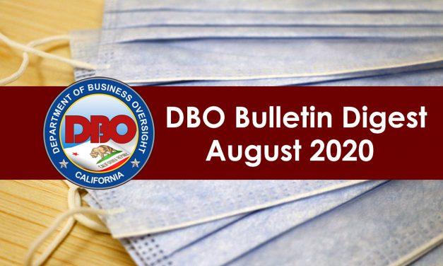 DBO Bulletin Digest August 2020