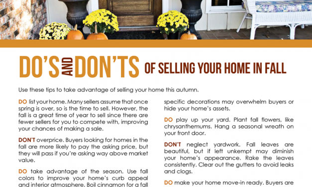 FARM: Do's and don'ts of selling your home in fall