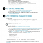 Infographic: Becoming A Broker (separate exam and license apps)