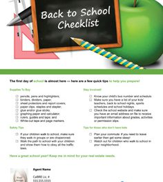 FARM: Back to School Checklist