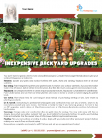 FARM: Inexpensive backyard upgrades
