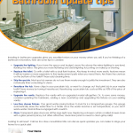 Bathroom update tips