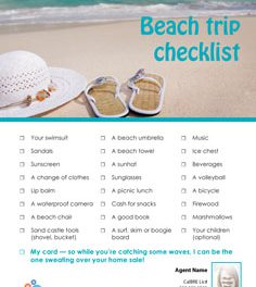FARM: Beach Trip Checklist