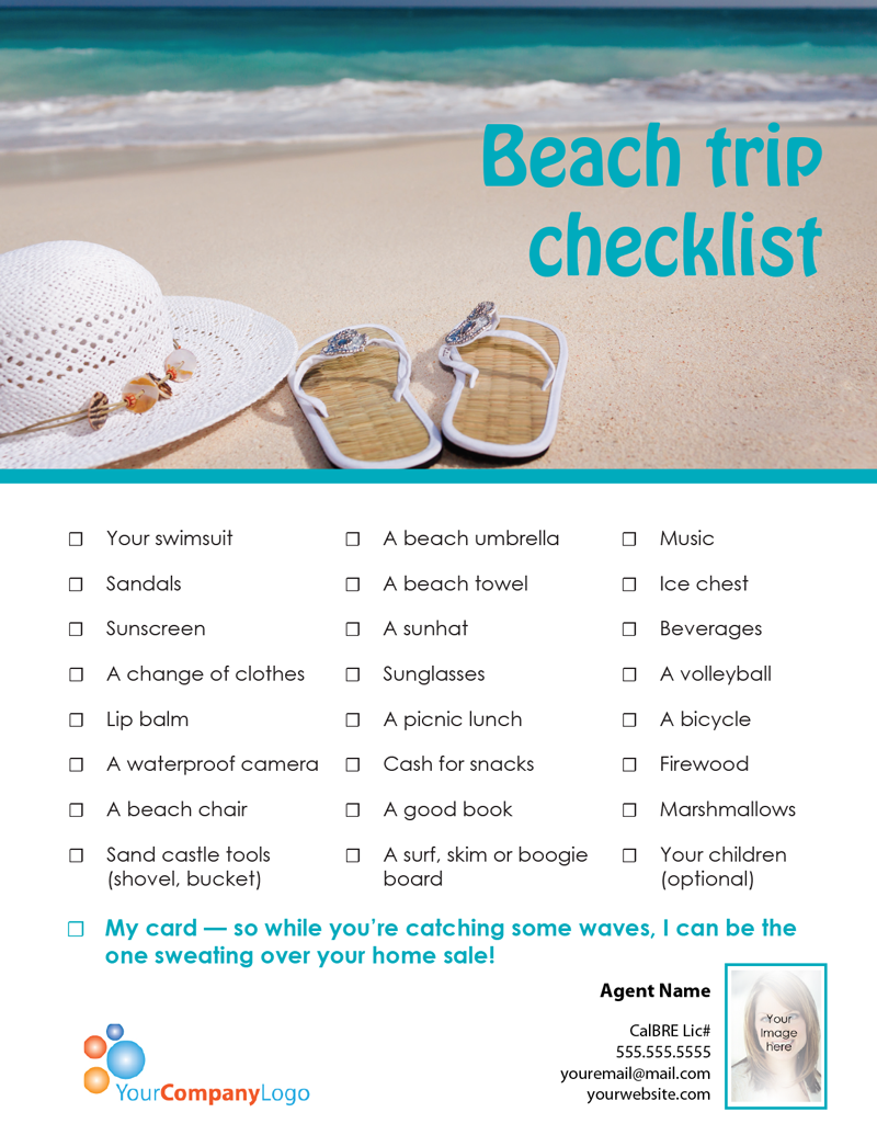 Farm beach trip checklist first tuesday journal beachtripchecklist pronofoot35fo Image collections