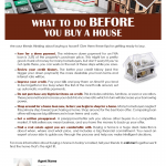 Before you  buy a house