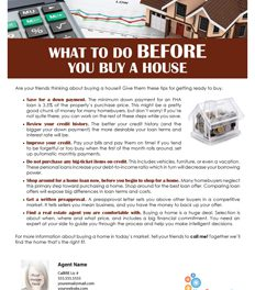 FARM: What to do before you buy a house