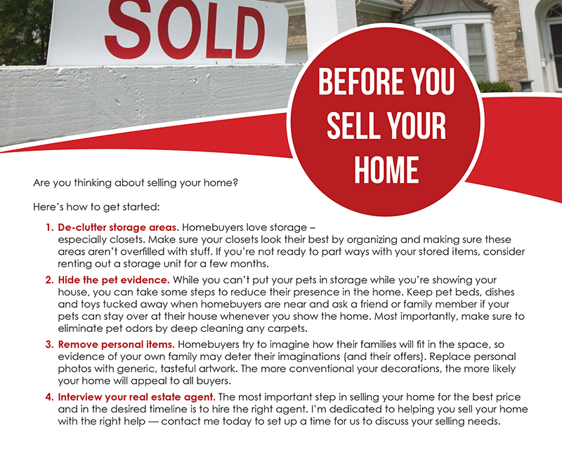 FARM: Before you sell your home