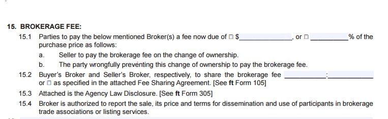Broker Fee Provision