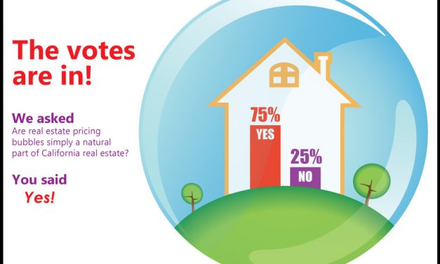 The votes are in: bubbles are a natural aspect of California real estate