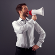 Businessman-megaphone