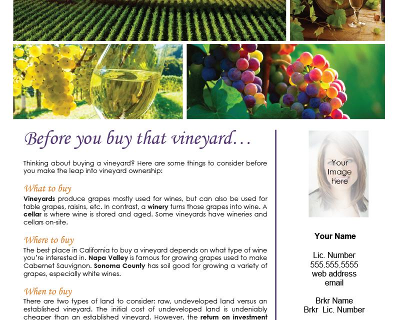 FARM: Before you buy that vineyard…