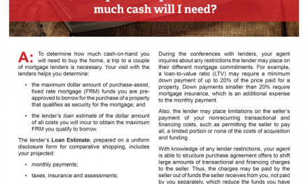 Client Q&A: What will my homebuyer costs be and how much cash will I need?