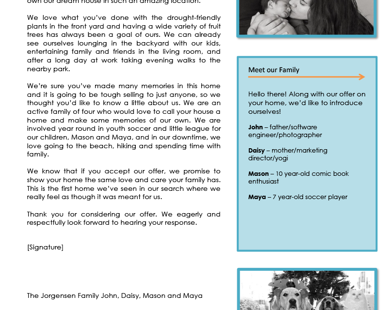farm offer cover letter 2 first tuesday journal. Black Bedroom Furniture Sets. Home Design Ideas