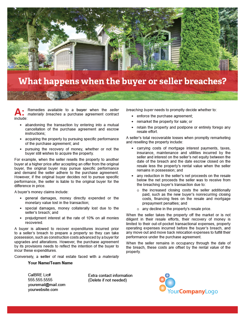 Buyer-Seller-Breach