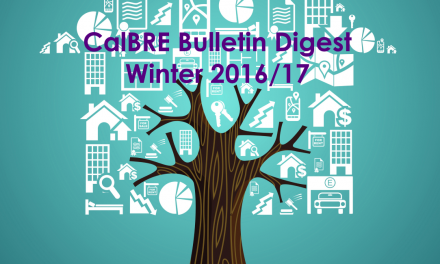 Winter 2016/17 CalBRE Real Estate Bulletin Digest