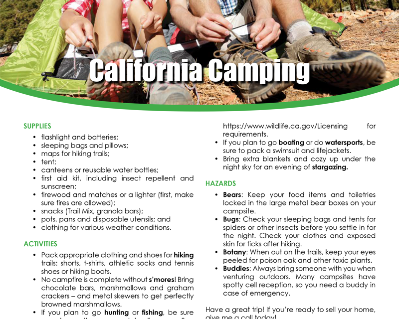 FARM: California camping