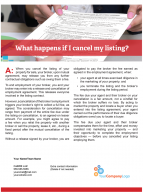 Client Q&A: What happens if I cancel my listing?