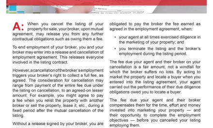 Client Q&A: What happens if I cancel my listing?