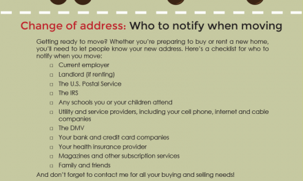 FARM: Change of address: Who to notify when moving