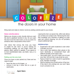 Colorizing doors in your home
