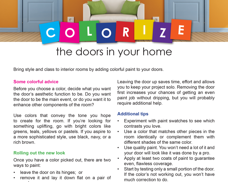 FARM: Colorize the doors in your home