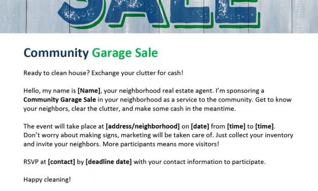 FARM: Community garage sale