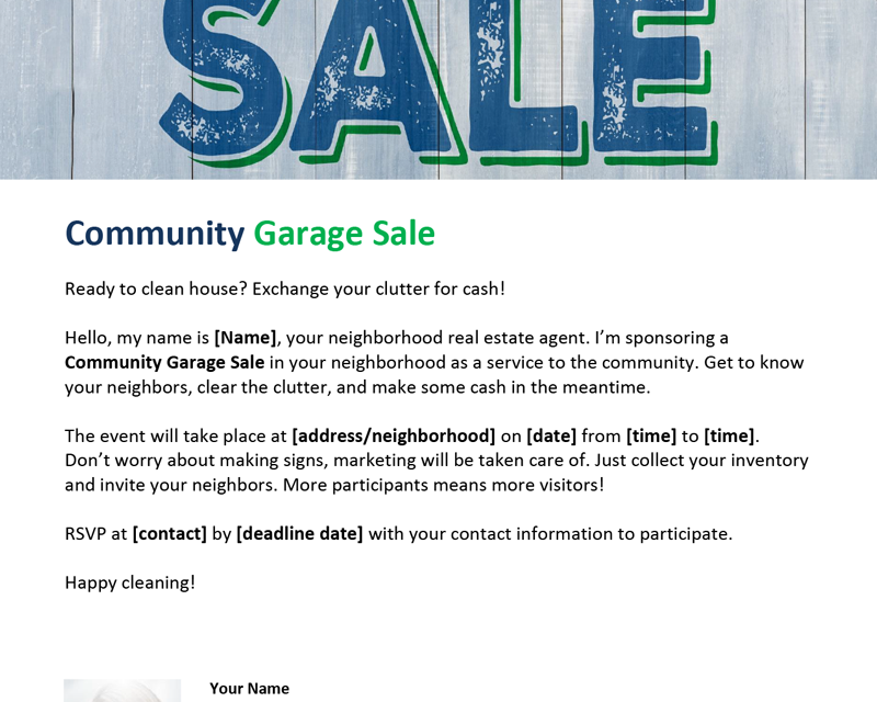 FARM: Community garage sale
