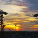 Construction,-sunset