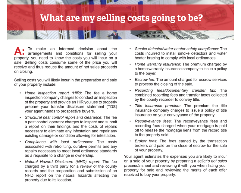 Client Q&A: What are my selling costs going to be?