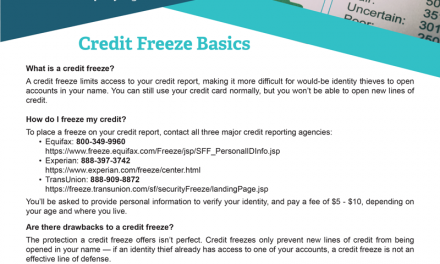 FARM: Credit Freeze Basics