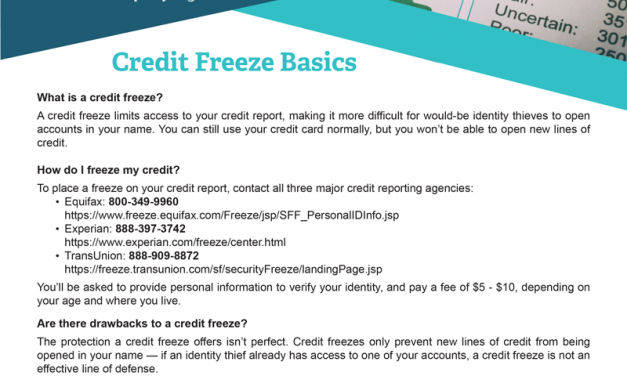 FARM: Credit Freeze Basics