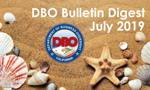 DBO Bulletin Digest July 2019