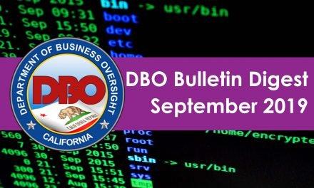DBO Bulletin Digest September 2019